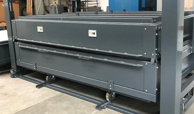 Glass bending oven for English customer